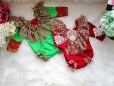 Christmas baby girl photo prop, baby red bodysuit, handmade outfit