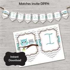 Baby Shower BannerBaby Boy BannerBaby Shower by DIYpartyprint