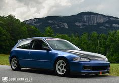 """Robby Mundo's Honda Civic EG (EJ) via SOUTHRNFRESH.com - Me """"Hey that's Table Rock in the background, I see that everyday!  They're in SC!"""""""