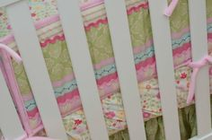Jill McDonald Lullaby Breeze crib bedding closeup