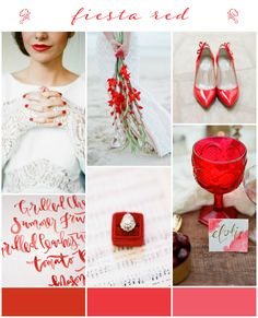 Pantone 2016: Fiesta Red Wedding Inspiration & Colour Ideas see more at http://www.wantthatwedding.co.uk/2015/09/13/pantone-2016-fiesta-red-wedding-inspiration-colour-ideas/