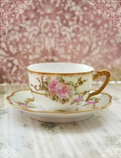Exquisite Vintage Limoges France Demitasse with Roses