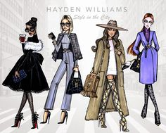 #Hayden Williams Fashion Illustrations #Style in the City collection by Hayden Williams
