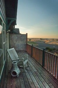 :: Long Beach Peninsula, Washington :: Deck with views of the dunes and the Pacific Ocean.