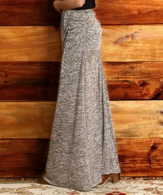 Look what I found on #zulily! Oatmeal Melange Maxi Skirt by Reborn Collection #zulilyfinds