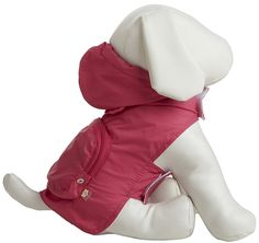 Fab Dog Pocket Travel Raincoat - Hot Pink Crab - X-Small ^^ Can't believe it's available, see it now : Dog coats