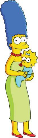 Marge Simpson - Maggie Simpson.