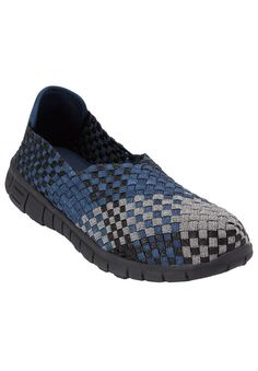 Ria Woven Sneaker by Comfortview - Women's Plus Size Clothing