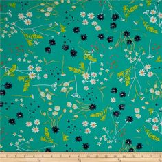 Art Gallery Lavish Blossom Swale Calm from @fabricdotcom Get inspired by these beautiful colors and floral inspired patterns that will be sure to delight the eye. Designed by Katarina Roccella for Art Gallery Fabrics, this cotton print is perfect for quilting, apparel and home decor accents. Art Gallery Fabric features 200 thread count of finely woven cotton. Colors include navy, grey, aqua, pink, green, white, orange, yellow and ivory.