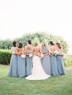 Dusty blue bohemian bridesmaid dresses: Photography: Christine Clark - http://www.christineclarkphoto.com/