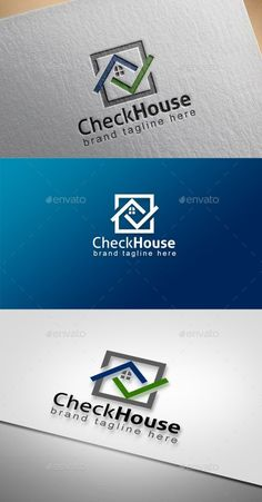 Buy Check House by Ark-Design on GraphicRiver. Logo of a Check House. Fully vectors, this logo can be easily resize and colors can be changed to fit your project. Real Estate Logo Design, Real Estate Branding, Inmobiliaria Ideas, Property Logo, Building Logo, Brand Building, Construction Logo Design, Architecture Logo, Logo Real