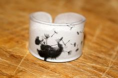 Dandilion Ring Choose Your Size by kaykreationsphoto on Etsy