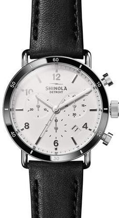612da2e470f Men s 40mm Canfield Sport Watch  buckle White strap Chronograph