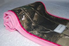 Realtree Burp Cloth Camo with hot pink edging  US made by talona, $7.95