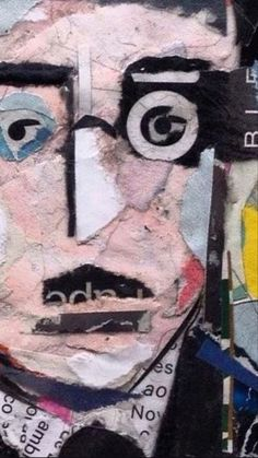 Collage Artwork, Collage Artists, Torn Paper, Shape And Form, Lisbon, Portugal, Art Pieces, Portraits, Hand Painted