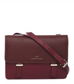 Karen Walker X Benah Burgundy Sloane Mini Satchel - Check out our new arrivals! http://shop.harpersbazaar.com/new-arrivals