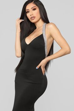 One Last Time Rhinestone Gown - Black Girls Night Out Dresses, New Arrival Dress, Janet Guzman, Brunette Beauty, Weekend Style, Dope Outfits, White Girls, Satin Dresses, Ball Gowns