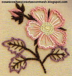 Resultado de imagem para flores bordados a mano