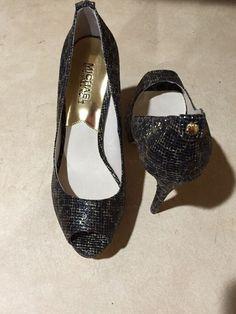 84ae92536657 Michael Kors MISMATCH Womens 6.5 6 M NEW Peep Toe Heels Pumps Shoes ST14F   fashion
