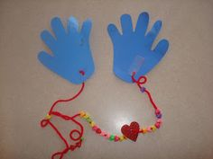 """Embroidery On Paper Kindness Craft. Mail a """"hug"""" to someone who needs it and work on fine motor skills (stringing beads). Too fun! Kindness Activities, Church Activities, Preschool Crafts, Preschool Activities, Religion Activities, Teaching Kindness, Preschool Bible, Bible Activities, Adult Crafts"""