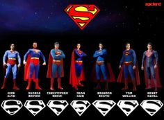 Superman thru the years