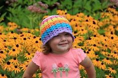 Zoe's rainbow hat