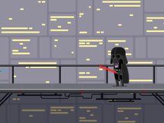 Rebel vs Darth VaderGif by Chris Phillips
