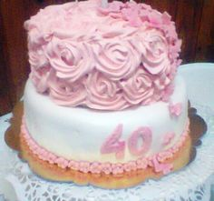 Torta Roses Blueberry Eventos