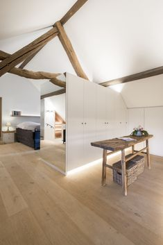 Attic Master Bedroom, Attic Rooms, Bedroom Loft, Home Bedroom, Small Space Living, Small Spaces, Residential Architecture, Interior Architecture, Loft House Design