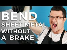 How To Bend Sheet Metal Without A Brake: How To Bend Sheet Metal Without A Brake in 4 different methods with minimal or homemade tools. Sheet Metal Work, Metal Bending Tools, Corrugated Metal, Homemade Tools, Metal Working, Youtube, Welding, Theory, Window