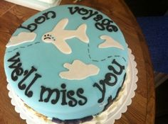 bon voyage cake By tlccar on CakeCentral.com