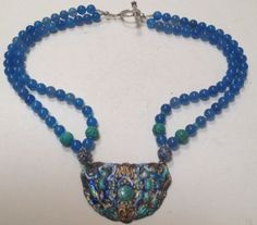 Antique-Chinese-Silver-Enamel-Pendant-Necklace