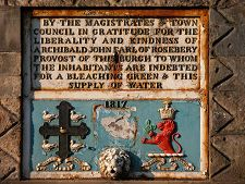 Plaque on the Tolbooth - Queensbury