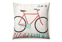 One Kings Lane - Pillow Talk - Life is 20x20 Pillow, Multi