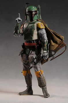 Star Wars Boba Fett action figure by Sideshow Star Wars Boba Fett, Star Wars Darth, Darth Maul, Star Trek, Star Wars Toys, Lego Star Wars, Boba Fett Action Figure, Boba Fett Costume, Star Wars Design