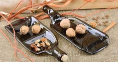 Transforme uma garrafa de vidro em uma tábua para aperitivo Zen, Desserts, Fall Hanging Baskets, Adjustable Dumbbells, Pine Cones, Nursery Trees, Glass Bottles, Gardening, Vases