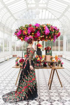 Delicate & Feminine, and Bold & Passionate Frida Kahlo Wedding Inspiration at Horniman Museum Glasshouse Venue Styled by Anna Fern Events Fern Wedding, Mod Wedding, Wedding Flowers, Floral Wedding, Frida Kahlo Wedding, Vintage Inspiriert, Garden Wedding Inspiration, Stunning Wedding Dresses, Mexican Dresses
