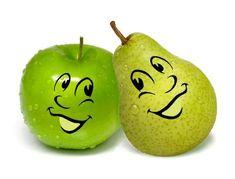 Appeltje voor de dorst: Groene appels met peer