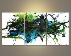 60 X 36 Modern Colorful Abstract Painting Original by OsnatFineArt