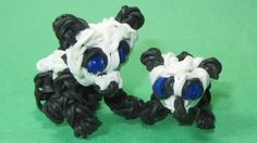 Rainbow Loom Charms: BABY PANDA: How To Tutorial / Design (DIY Mommy)
