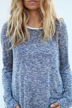 Blueish gray sweater mmm cozy