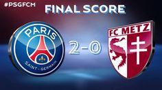Paris won 2 - 0 ! 2 goals by Thiago Silva !!