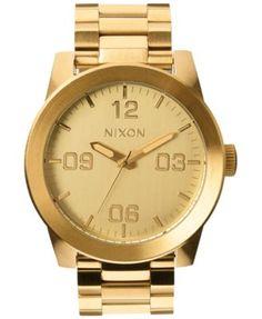 NIXON Nixon Men'S Corporal Stainless Steel Bracelet Watch 48Mm A346. #nixon # men