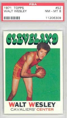 1971 Topps Basketball 52 Walt Wesley Cavaliers PSA 8 Near-Mint to Mint by Topps. $12.00. This vintage card featuring Walt Wesley is # 52 from the 1971 Topps Basketball set