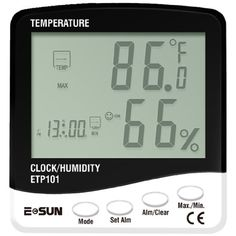 3 IN 1 Thermometer Hygro and Clock ETP101