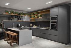 Kitchen Cupboard Designs, Kitchen Room Design, Kitchen Dinning, Modern Kitchen Design, Interior Design Kitchen, Kitchen Sets, Interior Modern, Pooja Room Door Design, Ceiling Design Living Room