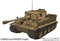 Platz 1/35 Girls und Panzer Tiger I Kuromorimine jogakuen ver. PLastic Model 33