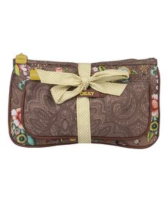 Look at this Tobacco French Flowers Bow Tie Cosmetic Bag