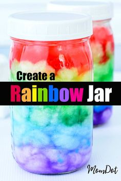 Rainbow Jar or Rainbow in a Jar, you decide, easy DIY full of wonder and delight to create a Rainbow in a Mason Jar at home Diy Crafts For Teen Girls, Arts And Crafts For Teens, Easy Arts And Crafts, Diy Home Crafts, Diy Crafts To Sell, Tween Craft, Popular Crafts, Sell Diy, Art Crafts