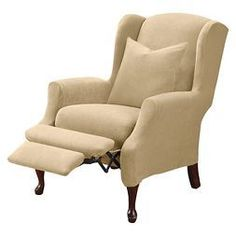 Stretch Pique Wing Recliner Slipcover - Sure Fit already viewed #ReupholsterChair